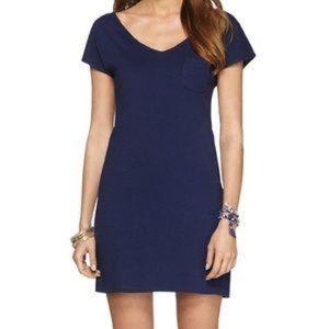 LILY PULITZER Daniella Navy Tshirt Dress size XS